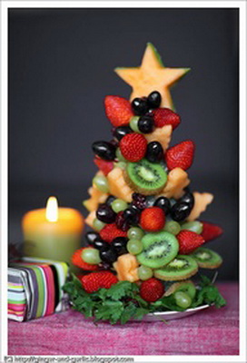 Украшение блюд и новогоднего стола 2013