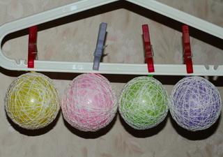 как сделать шарик из ниток