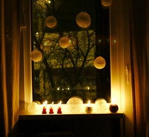 украшение окон к новому году своими руками