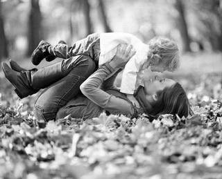 как позировать с ребенком